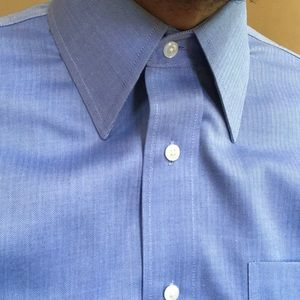 Nordstrom Organic Cotton Herringbone Dress Shirt